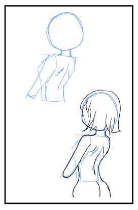 背中の描き方 漫画イラストの人物キャラクター描画 Tips