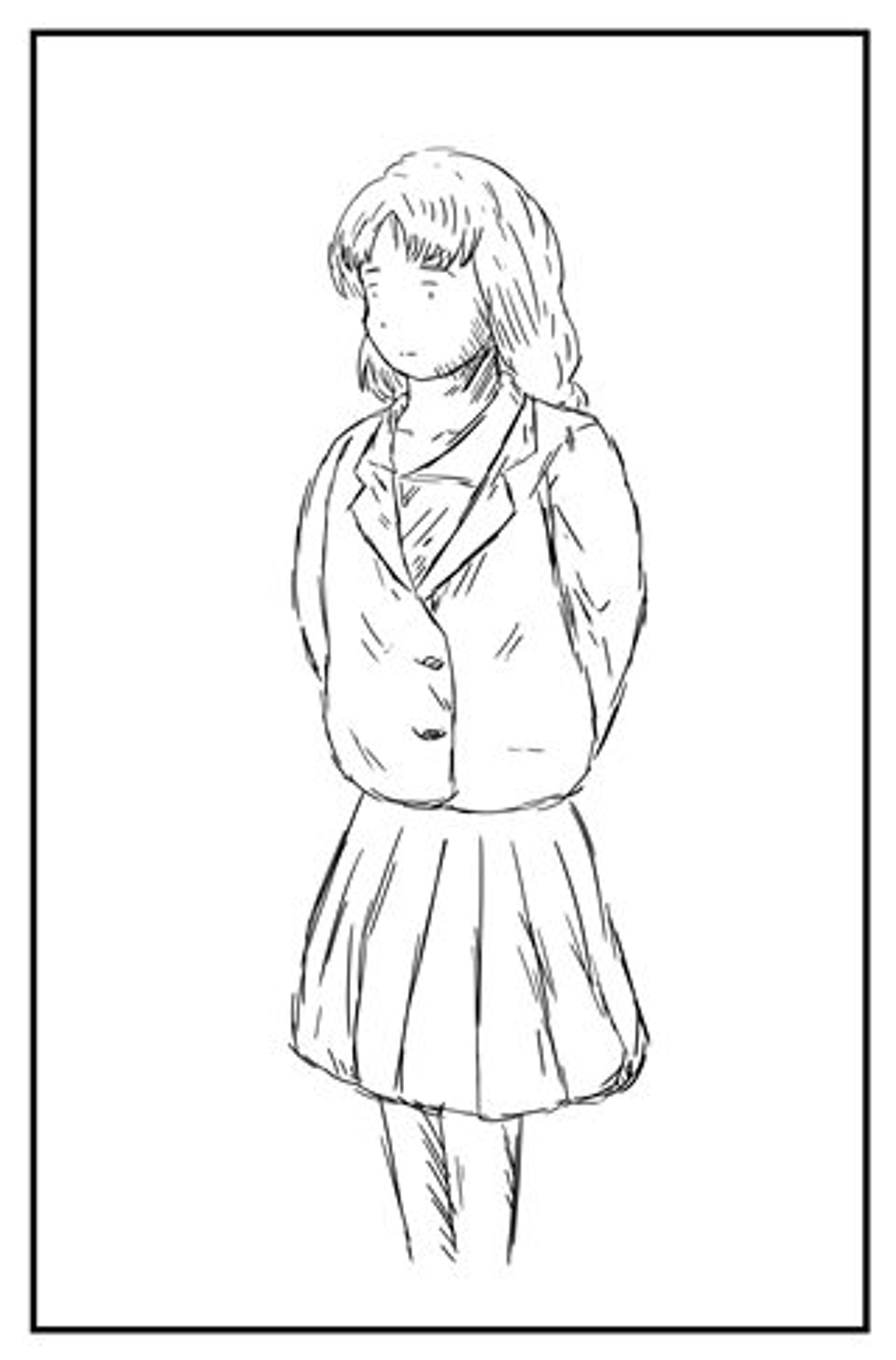 人物キャラクターの体のバランスあたりの取り方 漫画イラストの人物