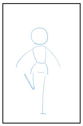 動きのあるポーズの描き方