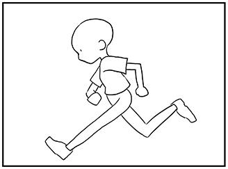 動きのあるポーズの描き方 漫画イラストの人物キャラクター