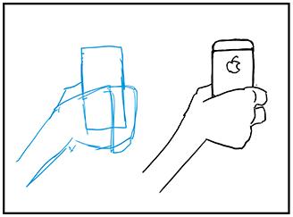 スマートフォンの描き方キャラクターへの持たせ方 漫画イラストの