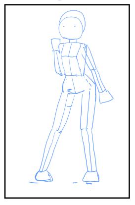 キャラクターの立ちポーズの書き方 漫画 イラストの人物キャラクター描画 Tips