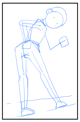 キャラクターの立ちポーズの書き方 漫画イラストの人物キャラクター