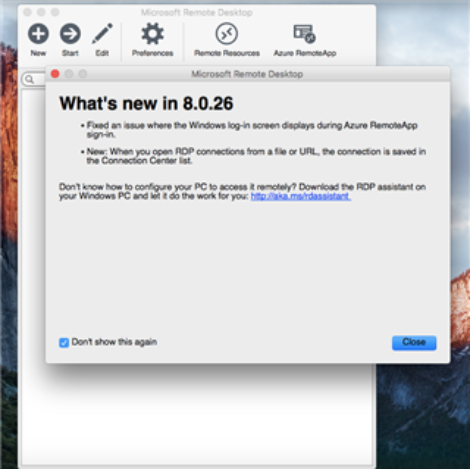 Mac OS Xからリモートデスクトップ接続でWindowsマシンにリモート接続