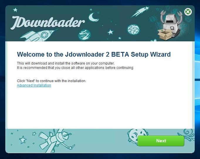 jDownloader 2 のインストール
